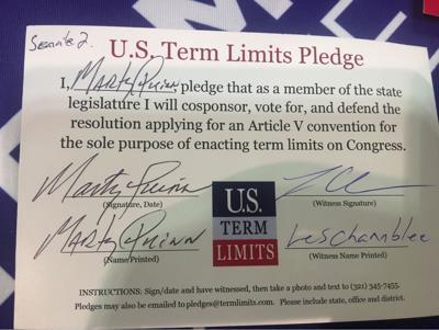 Senator Marty Quinn Pledges to Support Congressional Term Limits