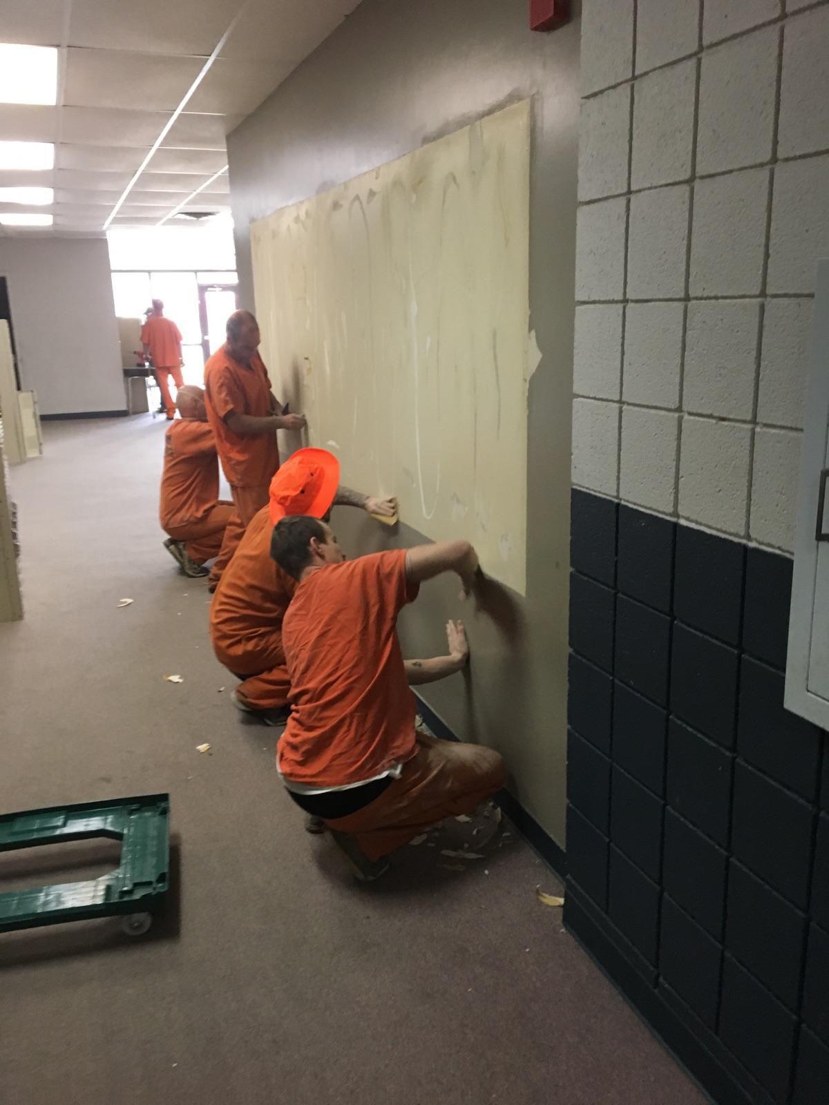 Inmates paint Claremont