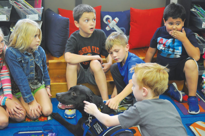 Therapy dog visits school for 'reading hour'