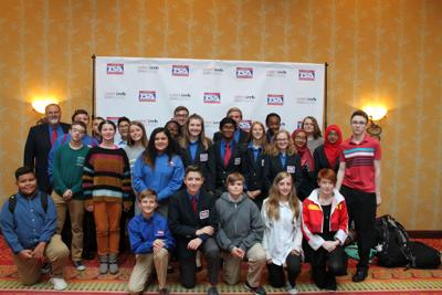 Claremore High School and Will Rogers Jr. High School Technology Student Association members attend Fall Leadership Conference