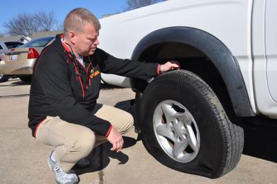 Vandals strike Claremore auto dealers