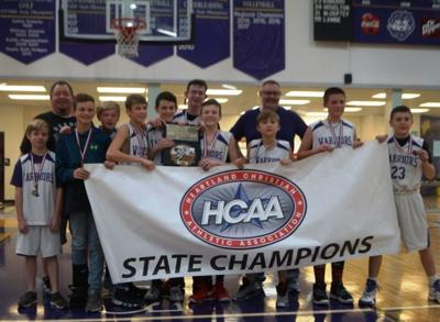 Claremore Christian JH boys win state championship