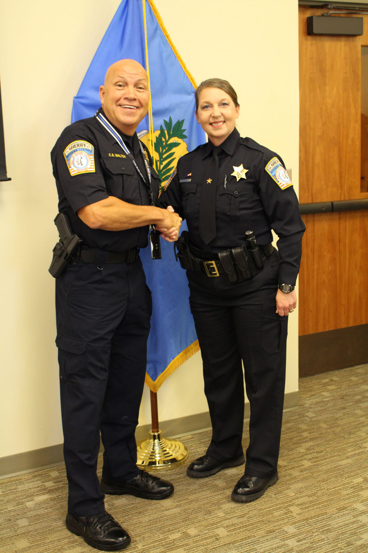 Sheriff Scott Walton welcomes Betty Shelby