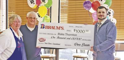 Braum's awards Claremore customer $1,000 college scholarship