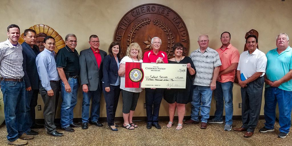 Cherokee Nation donates $90,000 to six domestic violence shelters