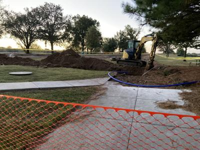 Construction underway at Claremore Lake