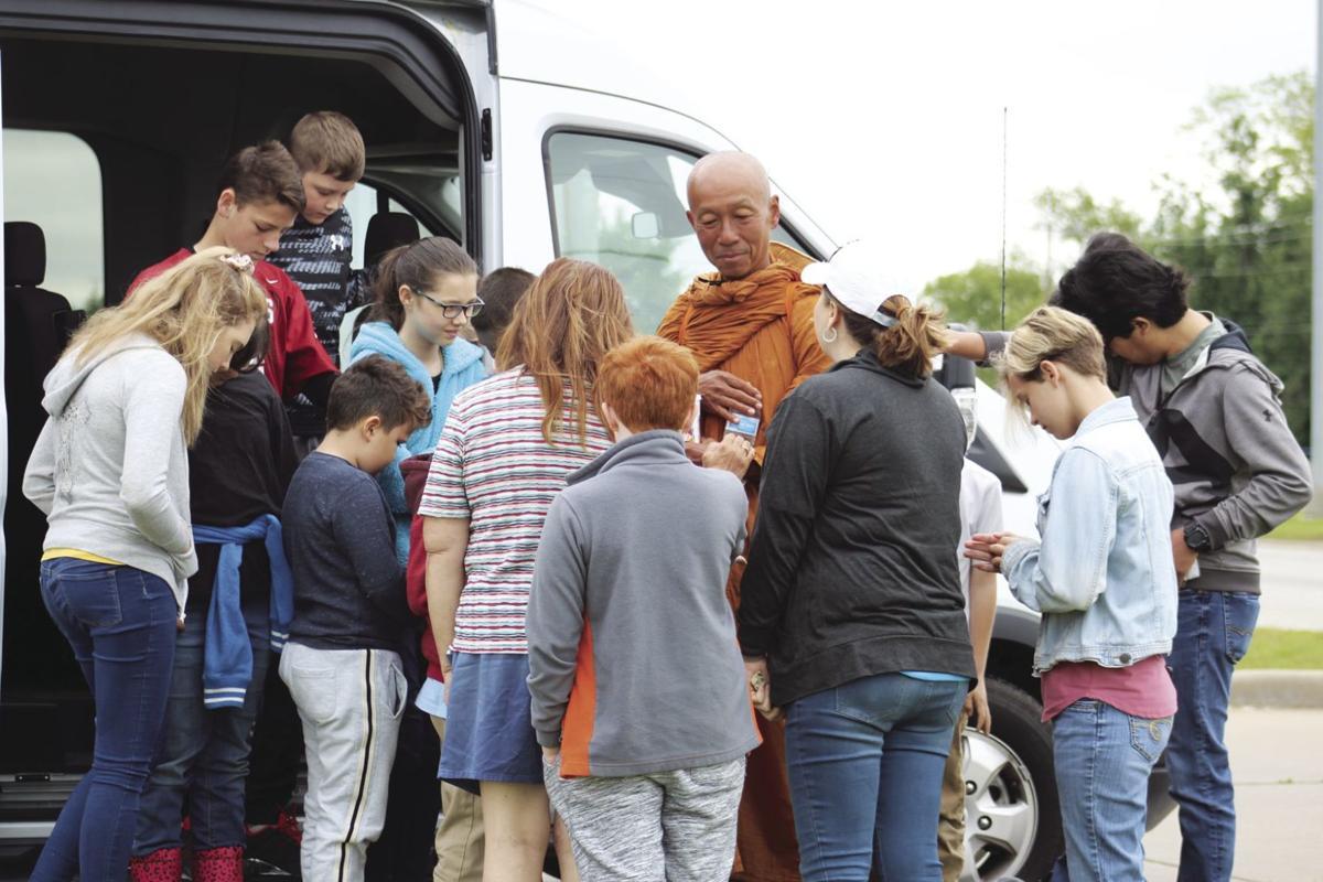Traveling monk journeys through Claremore