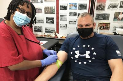 Blood drive hosted at J.M. Davis