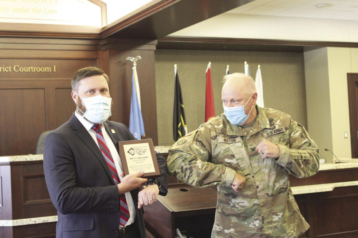 Oklahoma National Guard awards DA Matt Ballard for veteran, military friendly workplace
