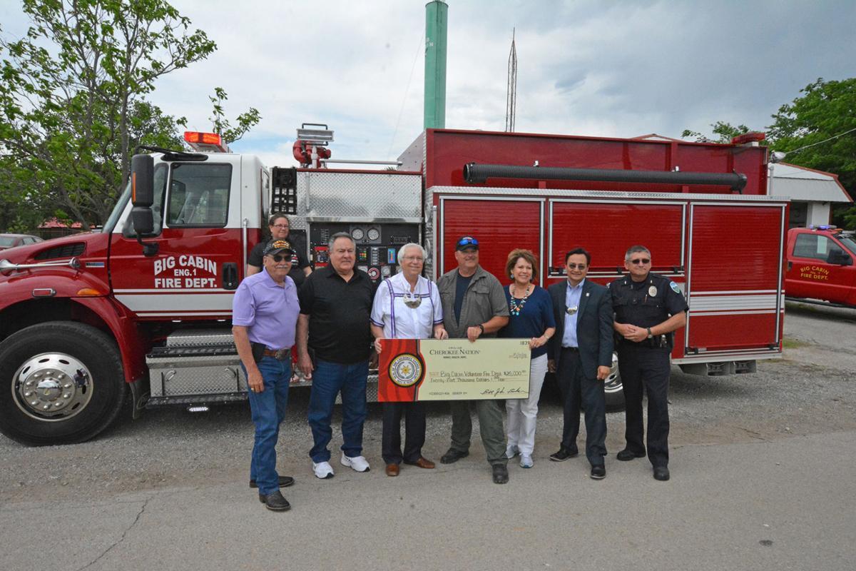 Cherokee Nation donates $25,000 to Big Cabin Volunteer Fire Department