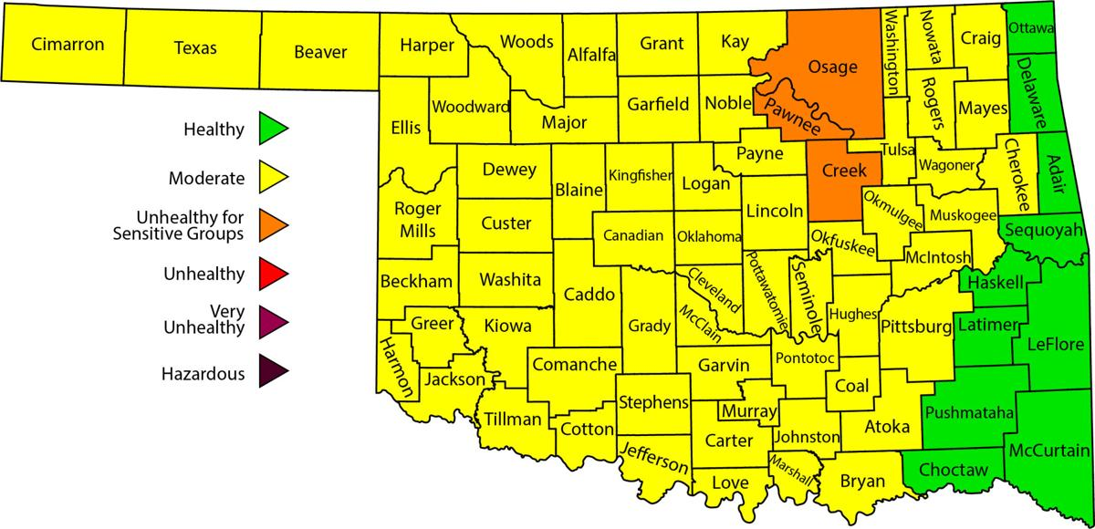 Rogers County under moderate Ozone alert