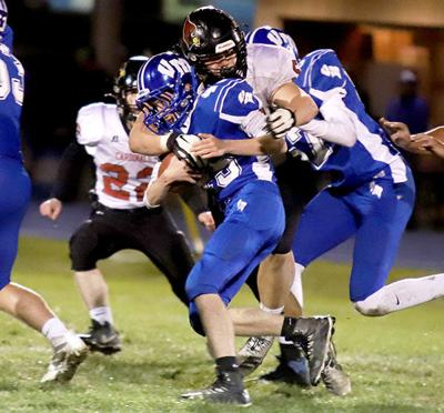 HJ - CHS FB Green Tackle at Van Meter