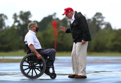 Donald Trump and Greg Abbott