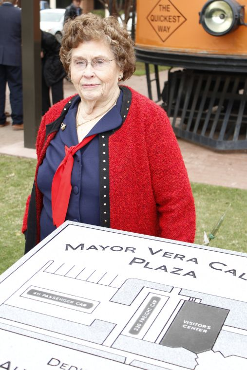 e343d88fd Former Burleson Mayor Vera Calvin joked Monday that friends had asked her  if she were tall enough to see over the marker designating the area outside  ...