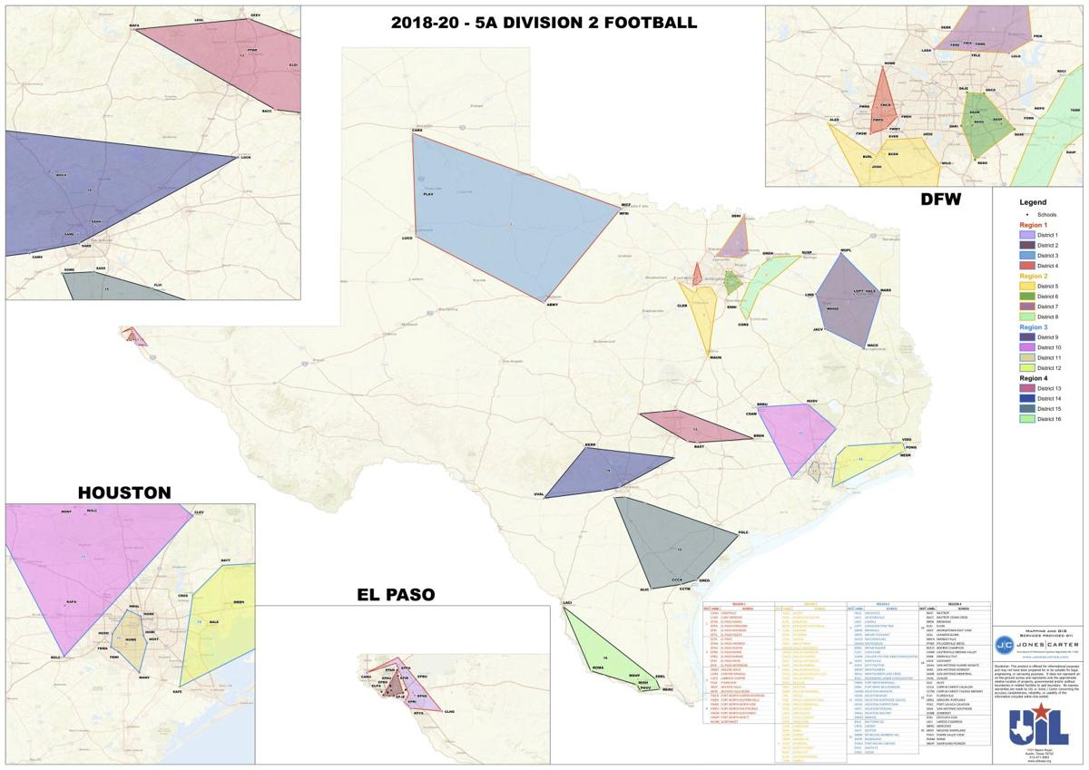 Uil Region Map Cleburne, Joshua coaches react to big changes after UIL