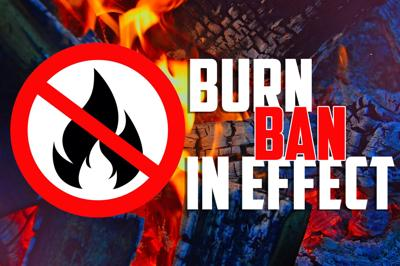 Burn ban in effect graphic