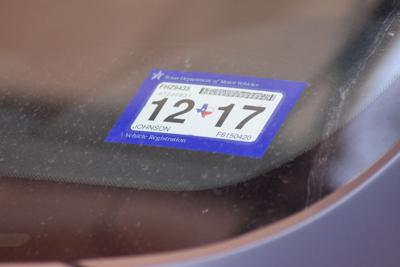 Texas vehicle registration and inspection sticker