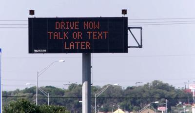 Distracted driving sign