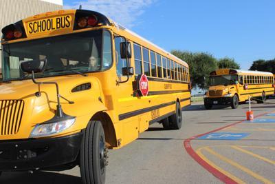Cleburne ISD school buses