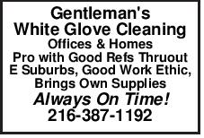 Gentleman's White Glove Cleaning Offices & Homes Pro with Good