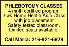 PHLEBOTOMY CLASSES 4 mnth certified program 2 wk Home Health