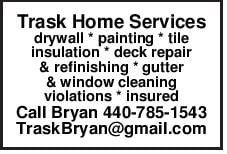 Trask Home Services drywall painting tile insulation deck repair &