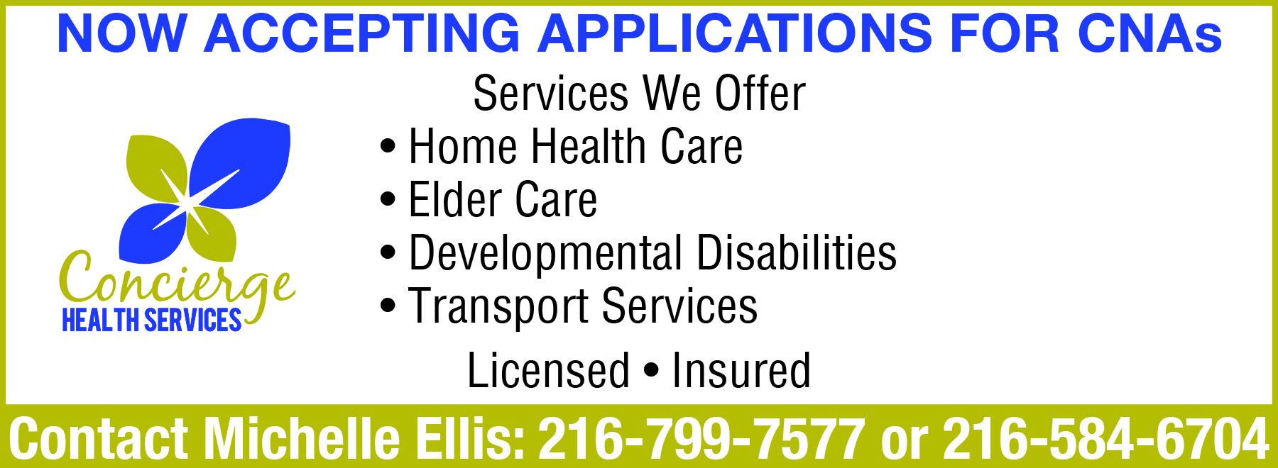 CONCIERGE HEALTH SERVICES | Child & Elderly Care Services