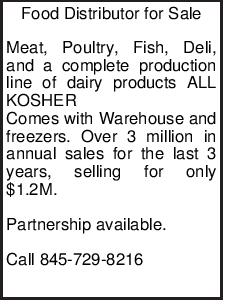 Food Distributor for Sale Meat, Poultry, Fish, Deli, and a