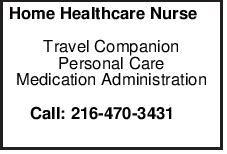 Home Healthcare Nurse Travel Companion Personal Care Medication Administration Call: