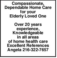 Compassionate, Dependable Home Care for your Elderly Loved One Over