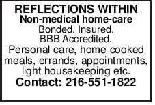 REFLECTIONS WITHIN Non-medical home-care Bonded. Insured. BBB Accredited. Personal care