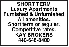 SHORT TERM Luxury Apartments Furnished & Unfurnished All amenities. Short