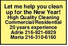 Let me help you clean up for the New Year!