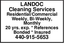 LANDOC Cleaning Services Residential/Commercial Weekly, Bi-Weekly, Monthly 20 yrs. exp.