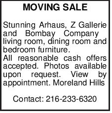 MOVING SALE Stunning Arhaus, Z Gallerie and Bombay Company living