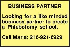 BUSINESS PARTNER Looking for a like minded business partner to