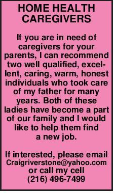 HOME HEALTH CAREGIVERS