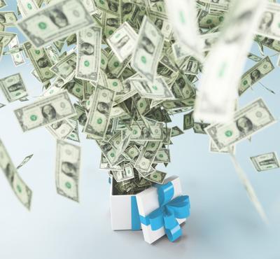 Dollari o banconote vincita o regalo
