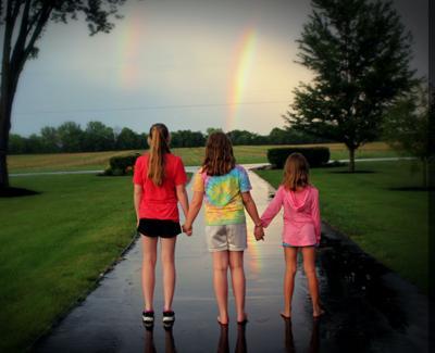 stock girls kids rainbow