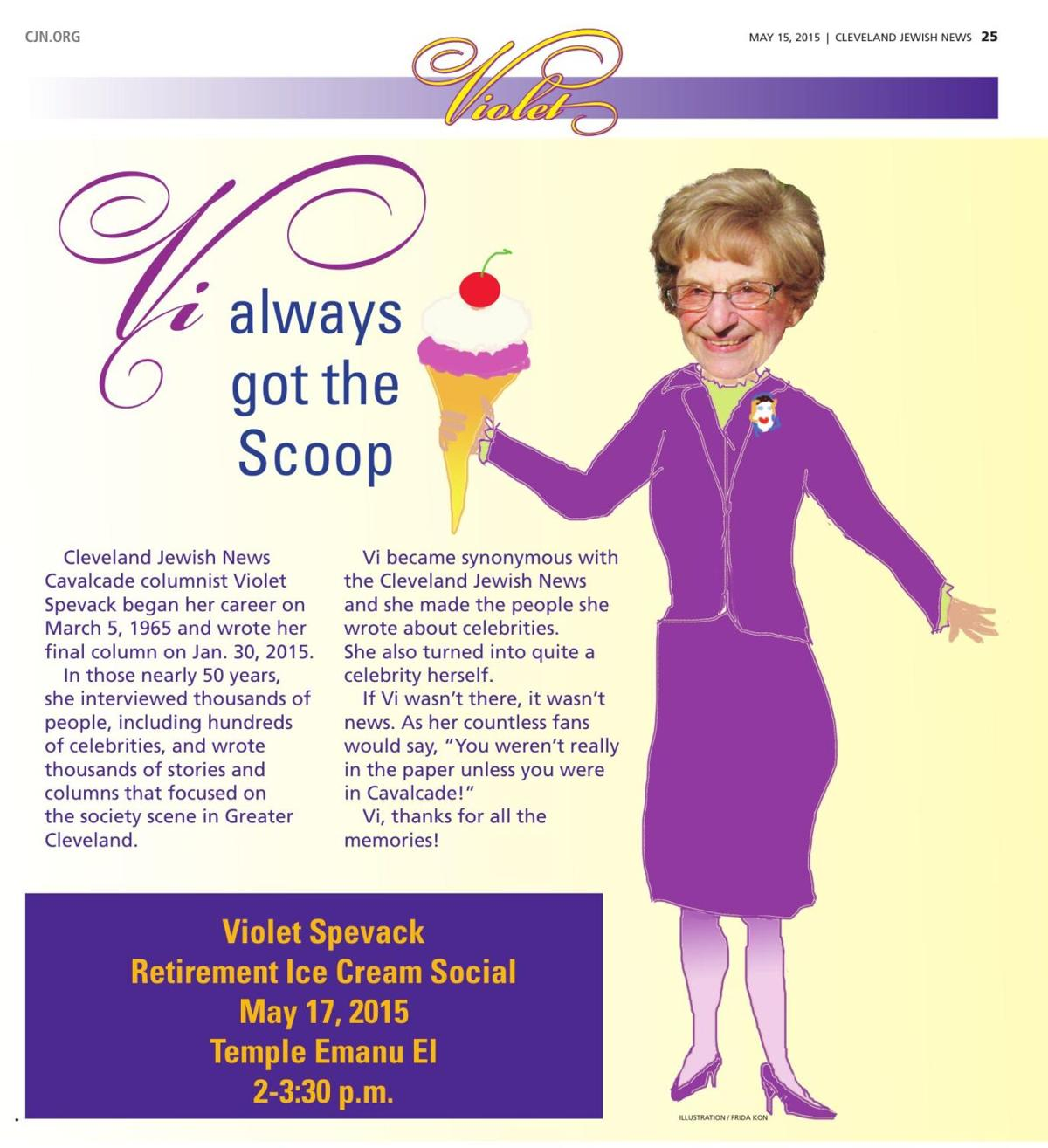 A CJN special section dedicated to Violet Spevack