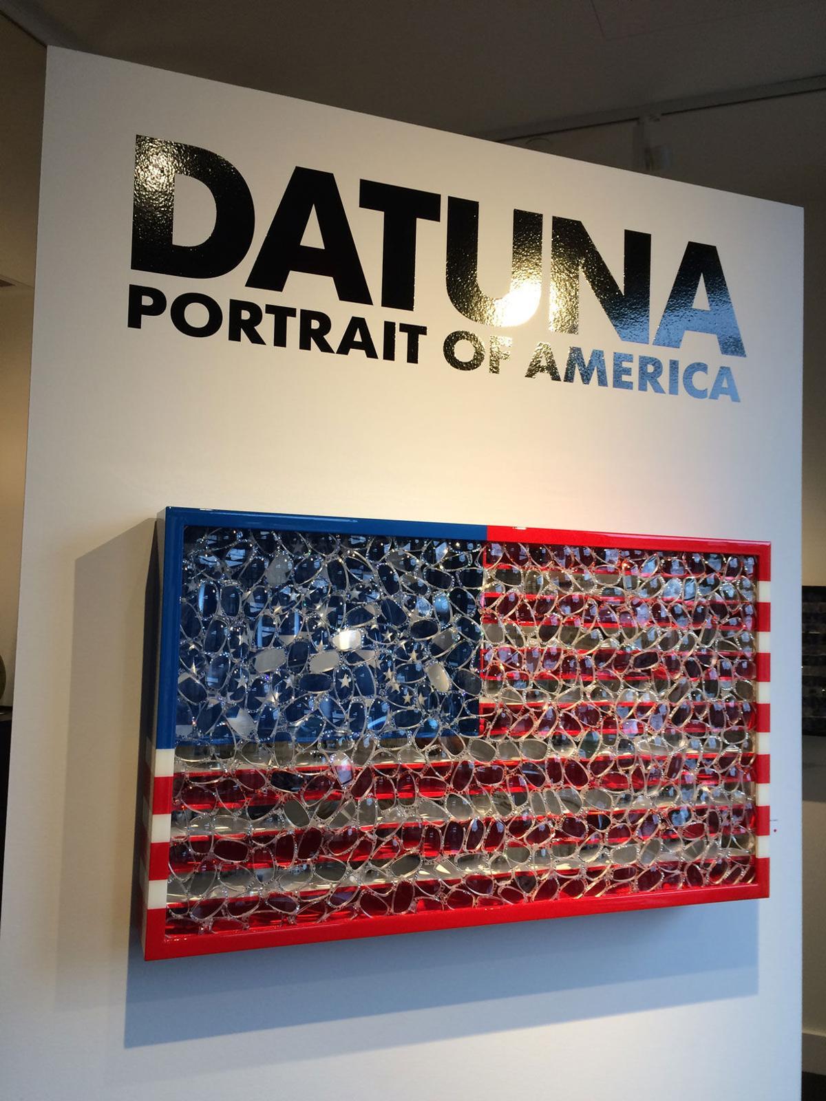 David Datuna's flag