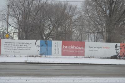 Brickhaus Trump Sign