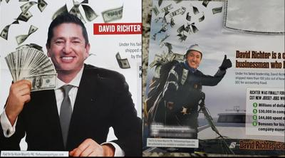 Democratic super PAC mailers show Jewish GOP House candidate clutching dollar bills