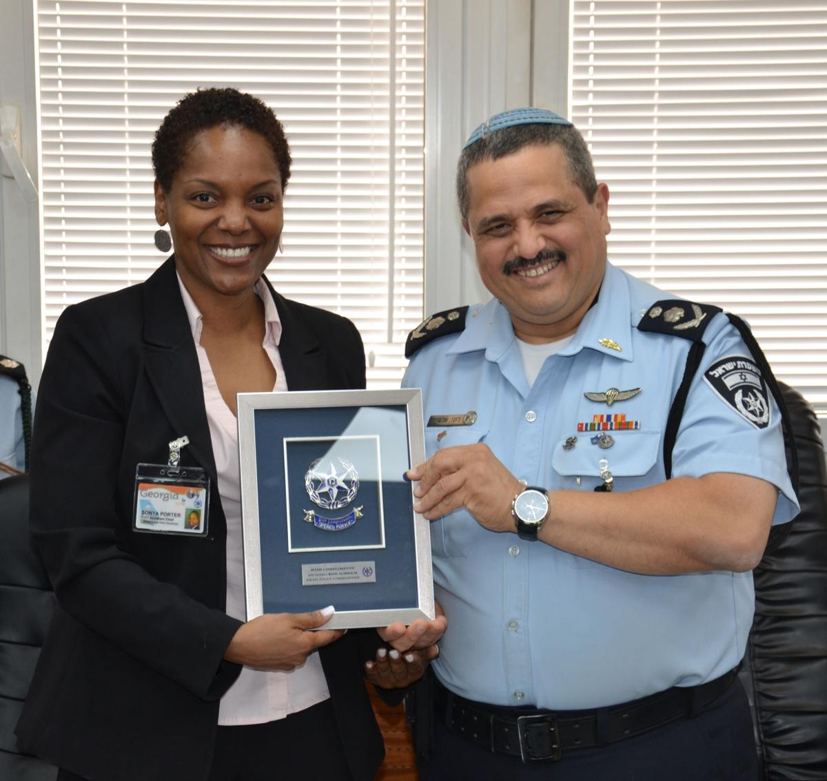 Chief S. Porter, DeKalb County Police, Georgia with Israeli Police Commissioner