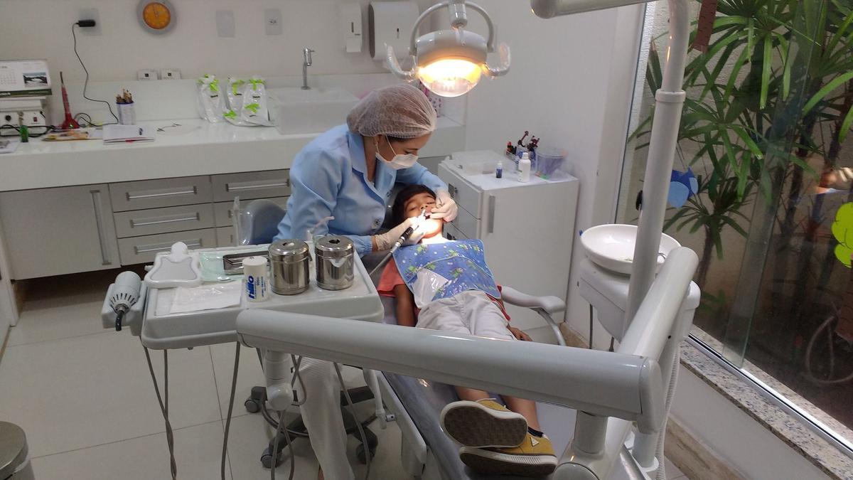 Stock dentist child pediatric