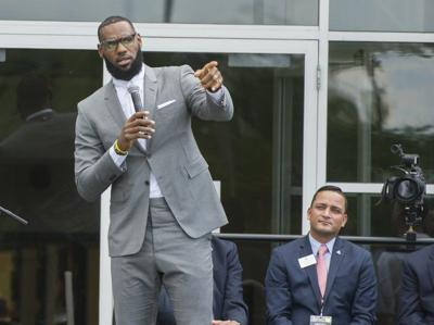official photos f2158 eaef0 LeBron James speaks at the opening ceremony for the I Promise School in  Akron July 30.