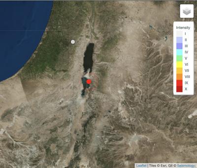 Dead Sea earthquake