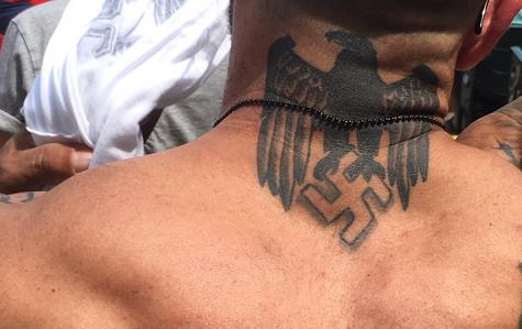 Neck tattoo