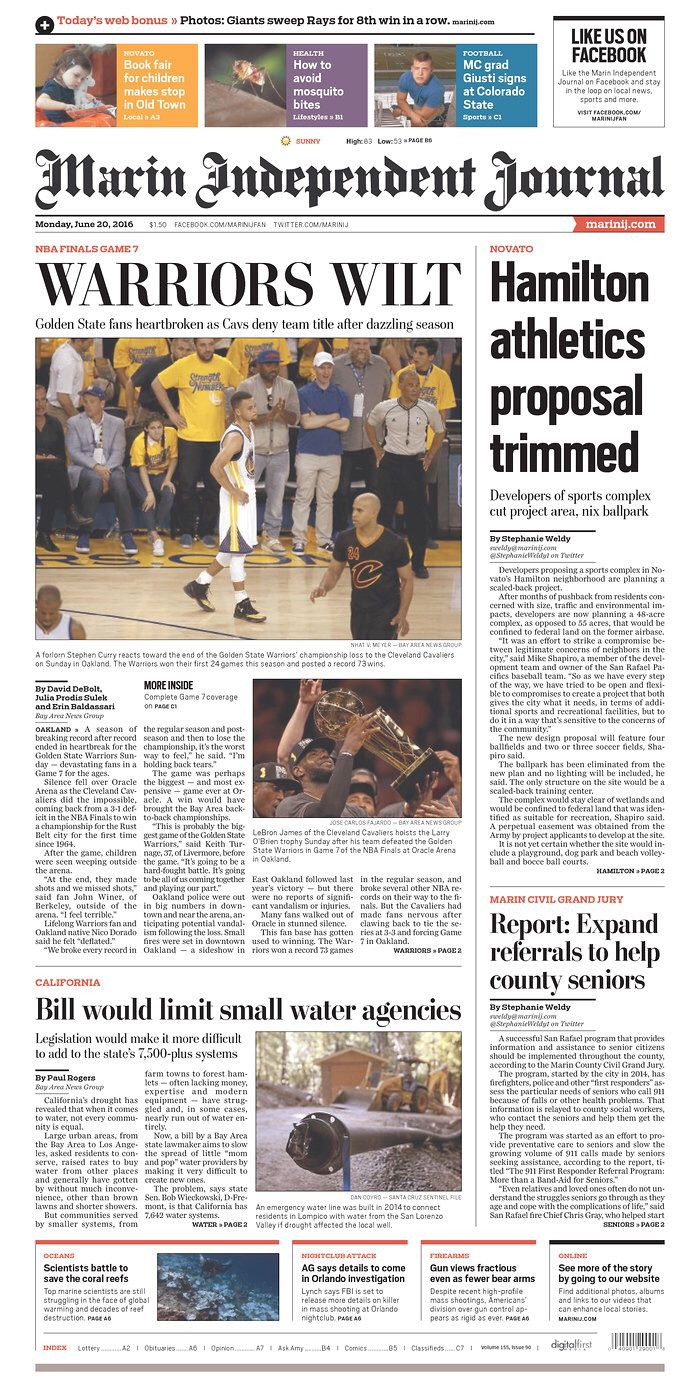 San Francisco Chronicle e-edition. Click to read the digital replica of the printed newspaper.