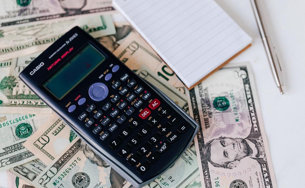 Stock, taxes, calculator, accounting